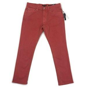 Michael Kors Mens Jean Slim Fit Parker Coral Red
